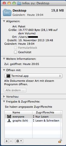 Schreibtisch Informationen - (Apple, Mac, Paket)