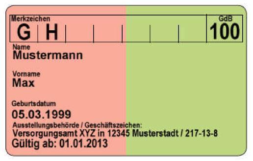 Der Neue Schwerbehindertenausweis Behinderung Ausweis Bundesland