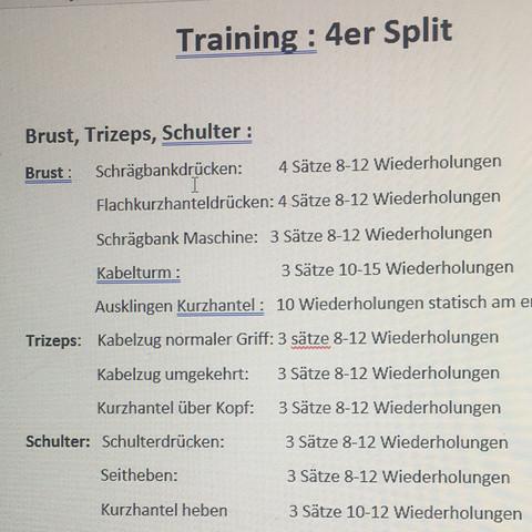 Der Plan Gut Für Brust Trizeps Shulter Tag Sport Training