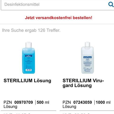 Desinfektionsmittel blau oder weiß ? - (Gesundheit, Arzt, Virus)