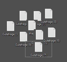 Desktop Dateien Komisch verschoben was kann ich tun?
