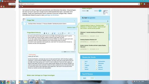 Fehler - (Windows 7, Asus, Desktop)