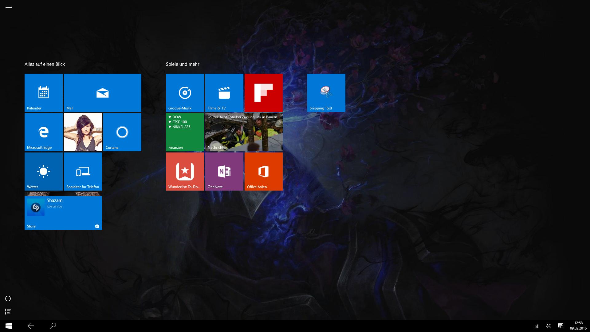 Desktop Verschwunden