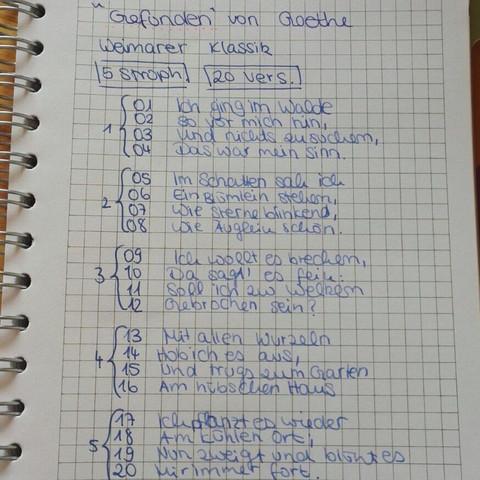 Deutsch Gedichtsanalyse Goethe Gedicht Analyse Stilmittel