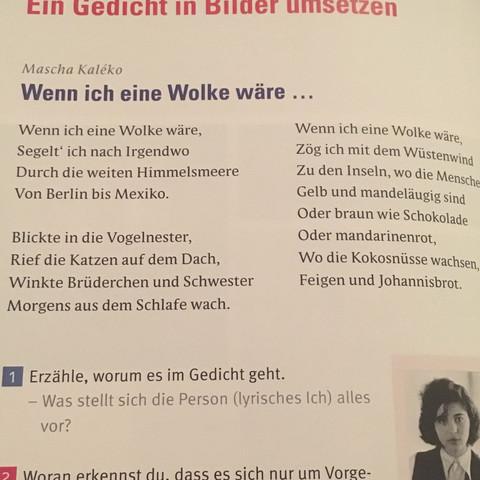 Deutsch Hausaufgabe Eigene Strophe Zu Einem Gedicht