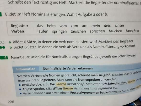 Deutsch,Verben werden Nomen?