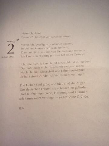 Wie Sind Inhalt Und Stimme Bei Diesem Heinrich Heine Gedicht