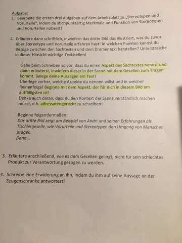 - (Schule, Deutsch, Drama)