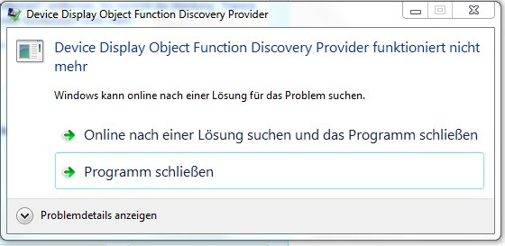 Fehlermeldung - (Windows 7, USB, Laufwerk)