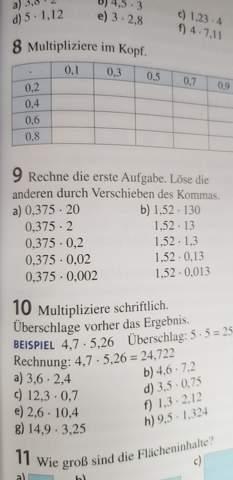 Dezimalbrüche multiplizieren und dividieren?