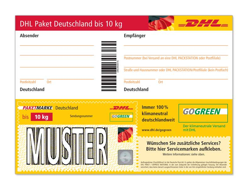 dhl paket an postfiliale wie beschriften post lieferung deutsche post. Black Bedroom Furniture Sets. Home Design Ideas