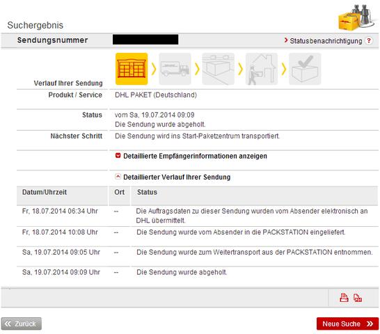 Dhl Paket Bleibt Im Status Die Sendung Wurde Abgeholt Versand