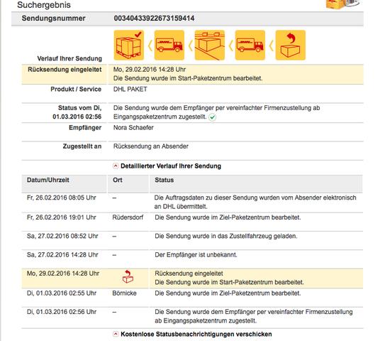Sendungsverfolgung - (Paket, DHL)