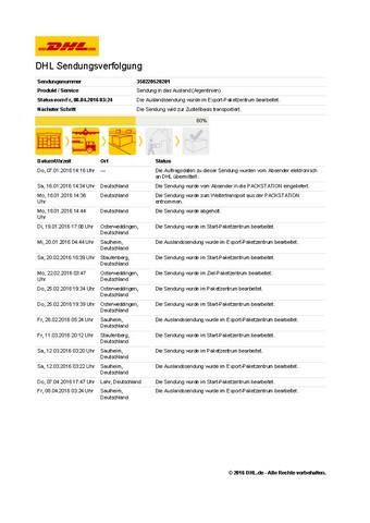Status-zur-Sendung - (Post, Rechte, DHL)
