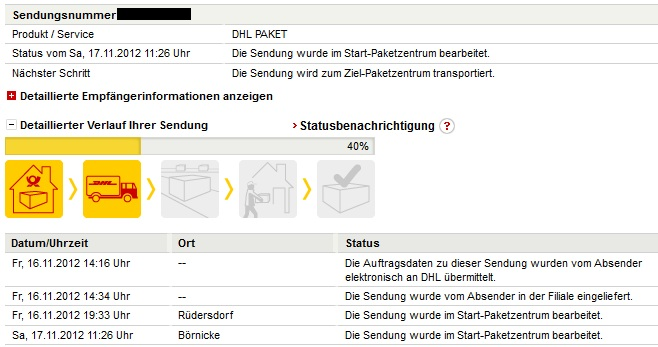 dhl sendungsverfolgung unterschiedliche start paketzentren in einer lieferung paket paketzentrum. Black Bedroom Furniture Sets. Home Design Ideas