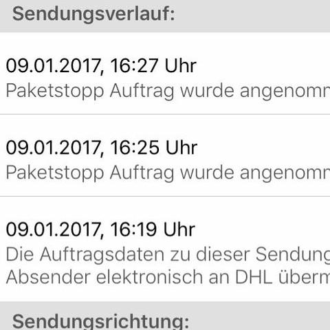 dhl senungsvefolgung was bedeutet paketstopp auftrag wurde angenommen paket deutsche post. Black Bedroom Furniture Sets. Home Design Ideas
