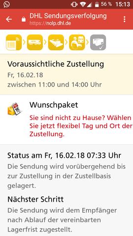 - (DHL, Status)