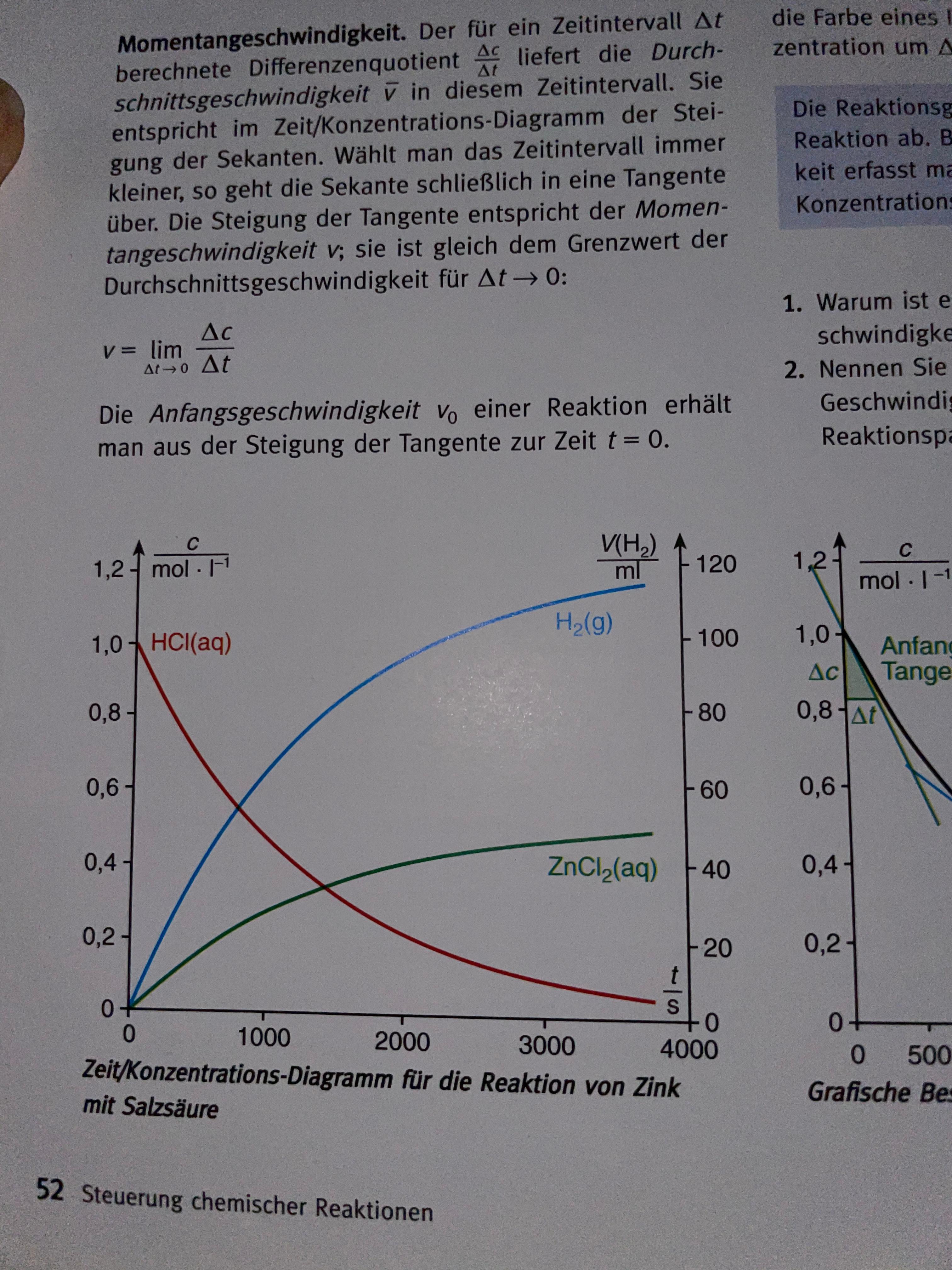 Diagramm Chemie beschreiben? (Schule, Hausaufgaben