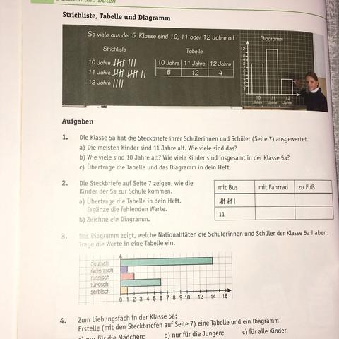 Diagramme Tabellen? (Mathe, Tabelle, Diagramm)