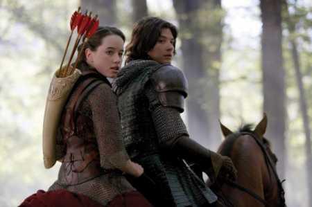 kaspian und susan zusammen aufm pferd - (Narnia, chroniken, 2.Teil)
