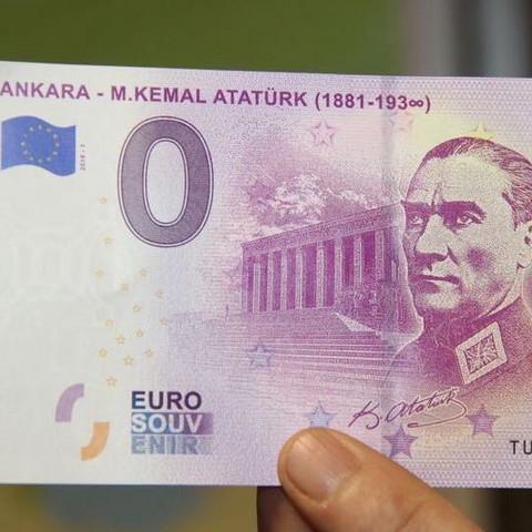 Die euro notenbank hat Atatürk geld gedruckt 0 euro als gedenken, nun wollte ich fragen wo ich es her bekommen könnte?