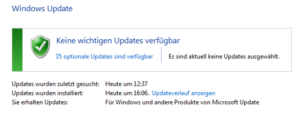 """Hier das """"Windows Update"""" Fenster - (Windows 7, Windows 10, Upgrade)"""