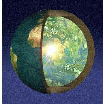 die Erde aufgeschnitten - (Welt, Erde, Hohle-Erde)