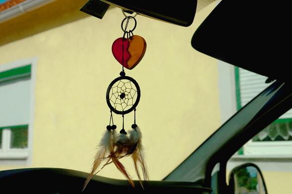 So sieht mein Rückspiegel - Anhängsel aus. - (Auto, Dekoration, Autozubehör)
