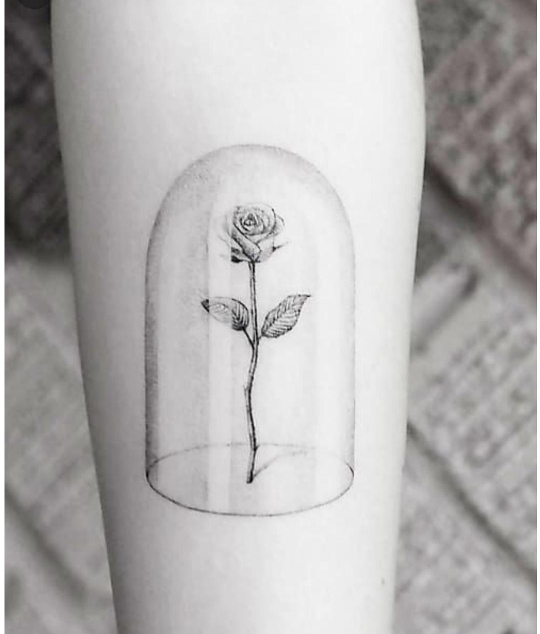 Die Schöne Und Das Biest Rose Bedeutung Tattoo Rosen