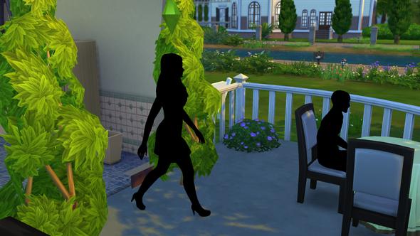 Schwarze Sims  - (schwarz, draußen, Die Sims 4)