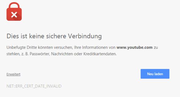 Google Chrome Dies Ist Keine Sichere Verbindung Deaktivieren