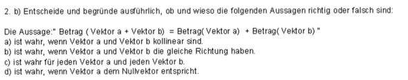 Frage - (Mathe, Mathematik, vektoren)