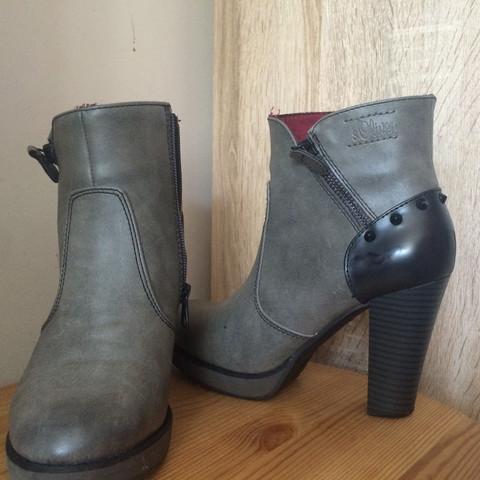 Grau mit nieten - (Schuhe, Boots)