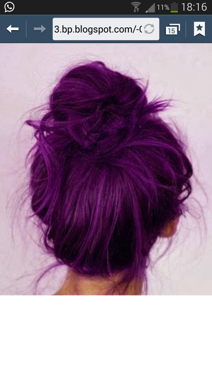 Diese haarfarbe tönen (lila)? (haare)