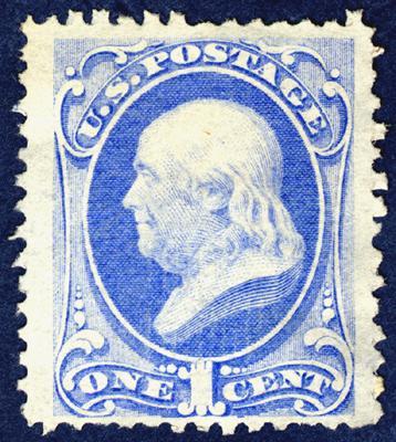 Diese One Cent Benjamin Franklin Briefmarke Wertvoll Amerika
