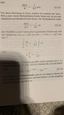 Differentialgleichung Kondensator.?