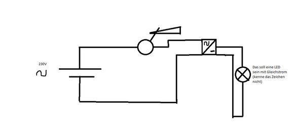 Dimmer vor Gleichrichter schalten , Dimmwirkung?