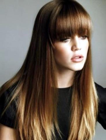 Blonde Haare Mit Braunen Spitzen Mittellange Haare