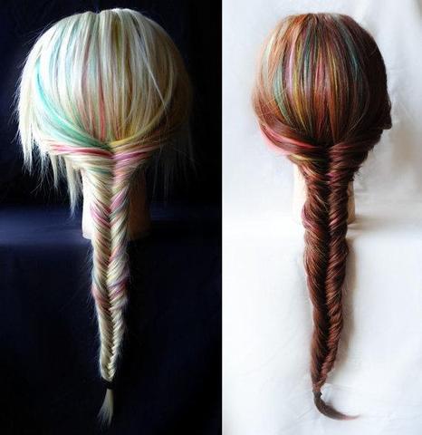 Dip Dye spitzen färben bei braunen Haaren Mädchen Haare