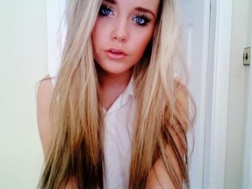 Dip Dye Blondbraun Haare