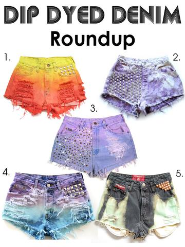 Dip dye short - (Jeans, acryl, Dip Dye)