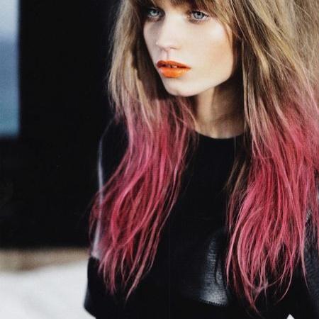 Dip Dye welche Farbe wäre gut für dunkel braune Haare Frisur
