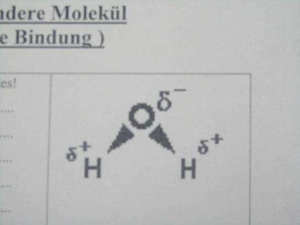 Wer kann den Begriff Dipol mit diesem Bild erklären? (Chemie, Erklärung)