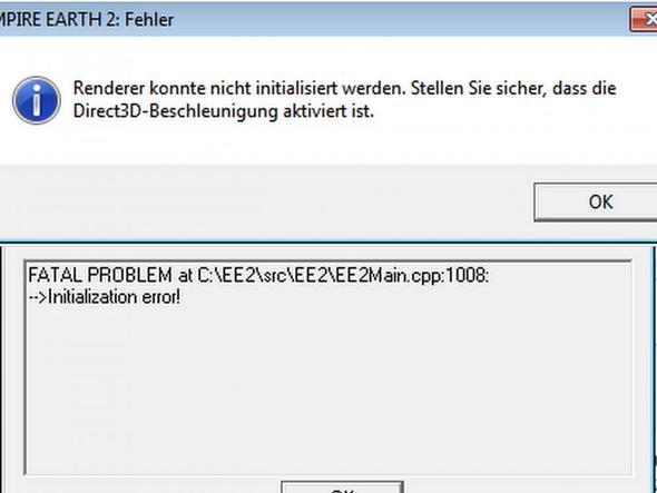 Fehlermeldung - (Computer, Technik, Computerspiele)