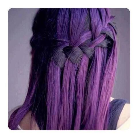 Lila directions auf braune haare