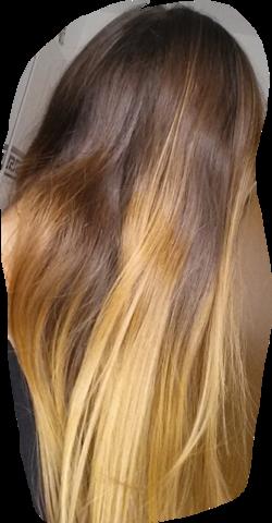 meine Haare (sehen etwas komisch auf dem bild aus aber egal) - (Haarfarbe, Directions, lila)