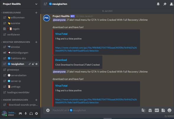 Discord - Webhooks gegrabbt?