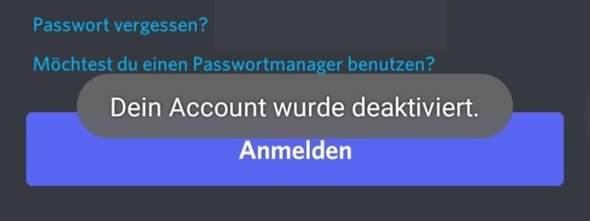 Discord Account ohne Grund deaktiviert was tun?