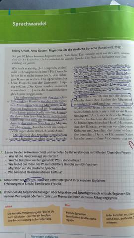Seite aus dem Buch - (Schule, deutsch, Lehrer)