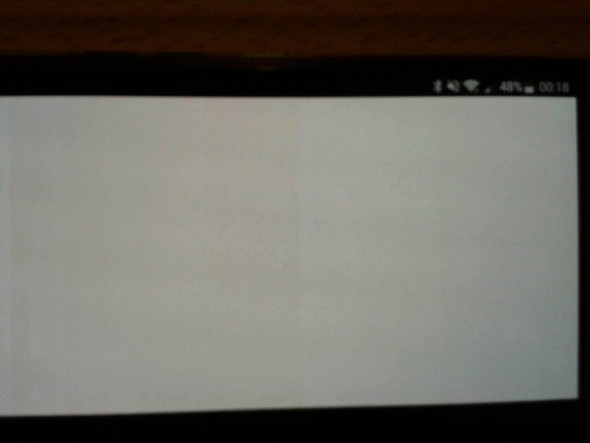 Display wenn man draufguckt (Ganze Hälfte Rot) - (Handy, Smartphone, Display)